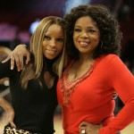 Oprah Winfrey and Mary J. Blige