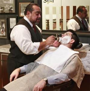 men shaving